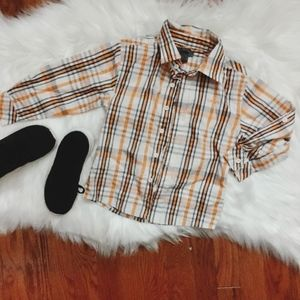 DKNY Plaid Button Down long sleeve 3T
